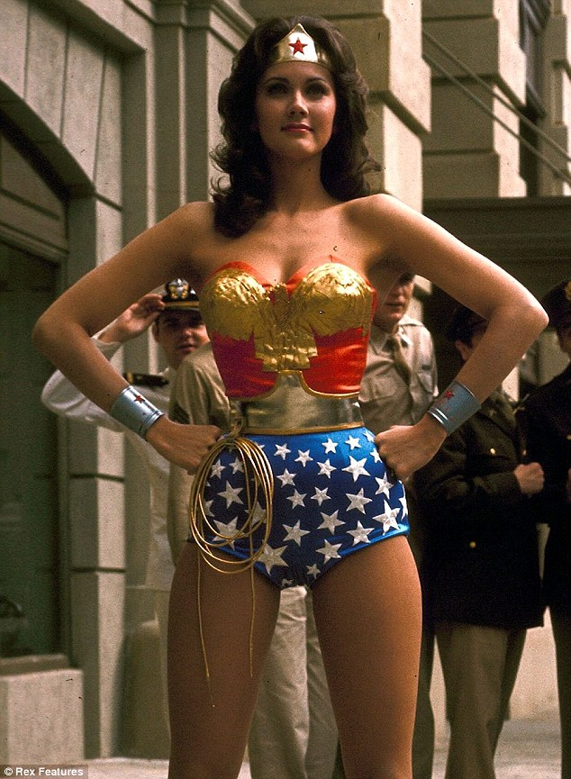 Legendary character: Lynda in 1976 as Wonder Woman