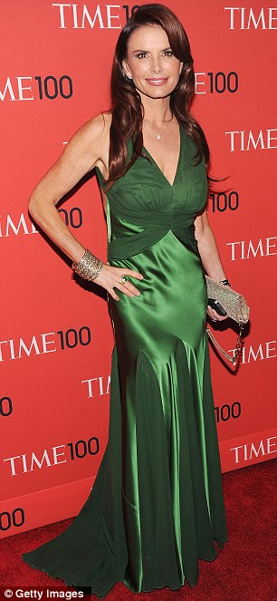 Concealed pins: Actress Roma Downey and journalist Barbara Walters