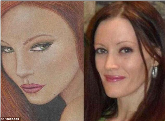 Eery: Supporters of Alexander's family noticed the similarities between the two, and because the drawings were made before the trial, that hints that Arias has been thinking of Alexander's sister for years