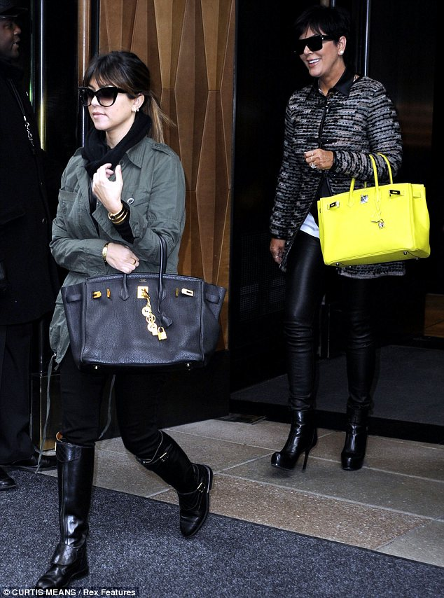 These boots were made for walking: Kourtney Kardashian and Kris Jenner both stepped out sporting leather boots