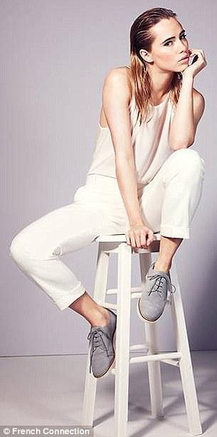 Suki wears Polly Plains vest top, £22, Zac Spring trousers, £67, Lori sporty Oxford shoes, £95