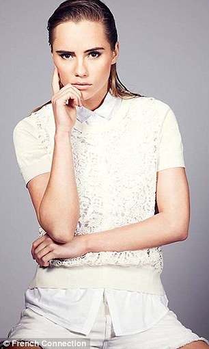 Suki wears Lover Boy crochet jumper, £67, Seville cotton shirt, £47, and Zac spring trousers, £67