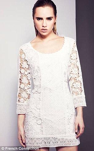 Suki wears In Bloom crochet dress, £150