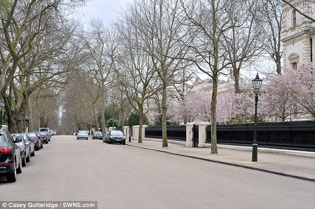 Billionaire's row: The privately-guarded road by Hyde Park is one of the most exclusive streets in Britain - with the 29 properties worth an estimated £3.4billion