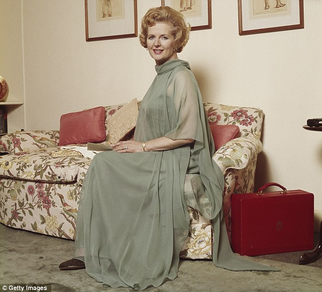 Clever: Baroness Thatcher belied her Iron Lady image by presenting herself as a home maker, wife and mother