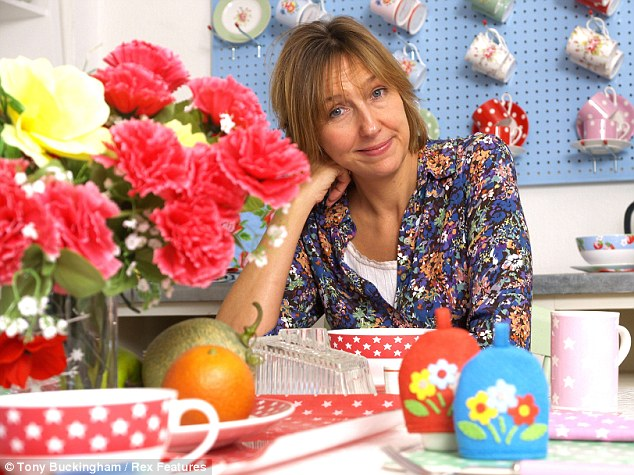 Insulting: Cath Kidston revealed that you won't find the 'fussy' wares her shops sell in her own home