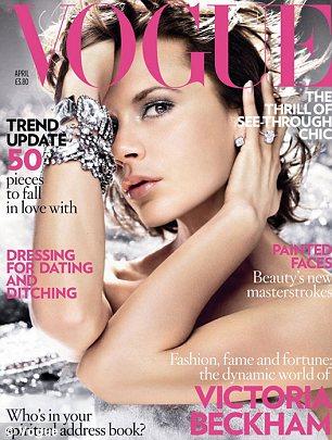 Victoria Beckham covers UK Vogue in April 2008