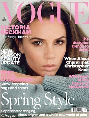 Victoria Beckham covers UK Vogue in February 2011
