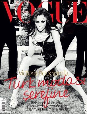 Victoria Beckham covers Vogue Turkey in August 2010