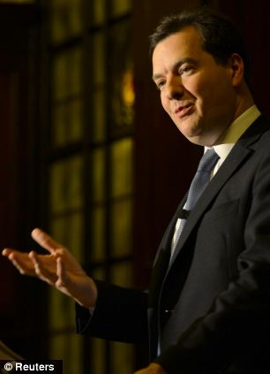 Mr Osborne has faced criticism for the lack of growth