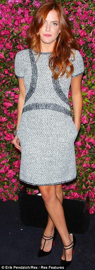 Tweed frocks: British TV personality Alexa Chung and actress Riley Keough