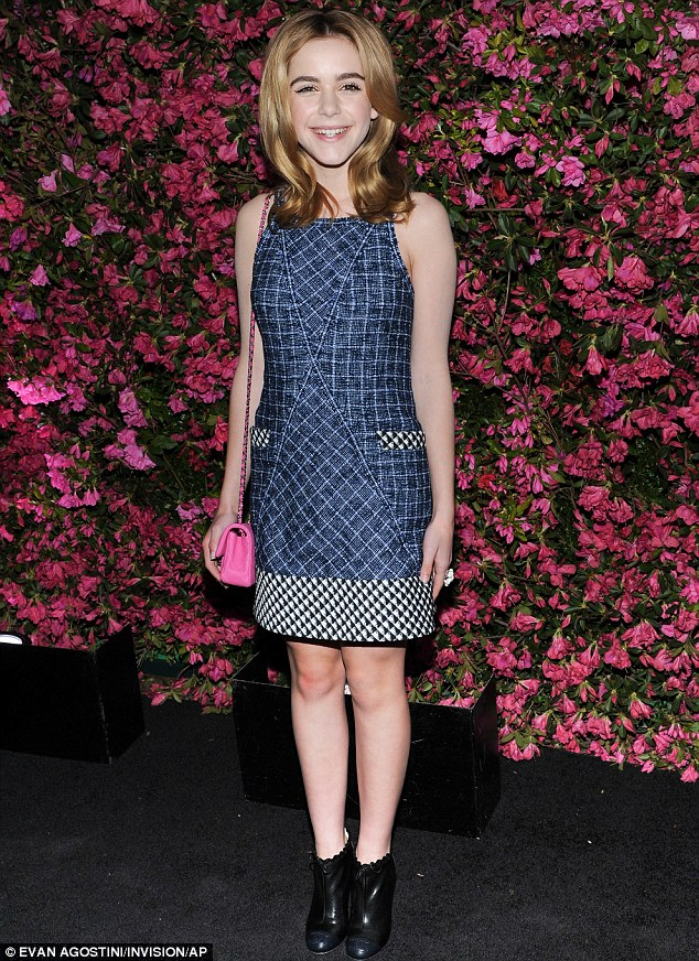 Perfectly poised: Actress Kiernan Shipka attended the Chanel TriBeCa Film Festival Artists Dinner in New York on Wednesday