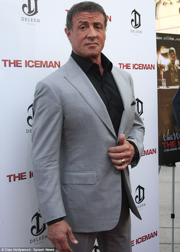 Star attraction: The beefcake actor put in an appearance at the premiere of The Iceman on Monday