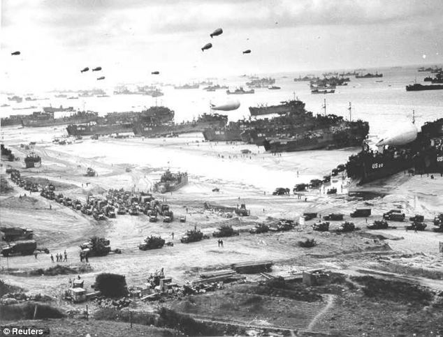 Omaha Beach secured after D-Day, 1944. The beach where U.S. troops landed is part of the so-called 'Secteur mythique'