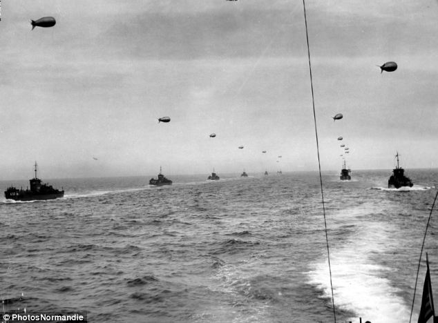 A massive flotilla of boats was organised to carry troops across the Channel to Normandy on June 6, 1944