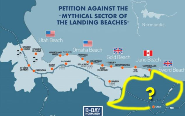 The website Dday-overlord.com is running a campaign for the French tourist boards to include Sword Beach in their promotion