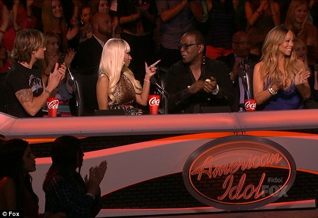 Panel beater: Nicki made a lighthearted threat after Randy said 'in it to win it' for the millionth time