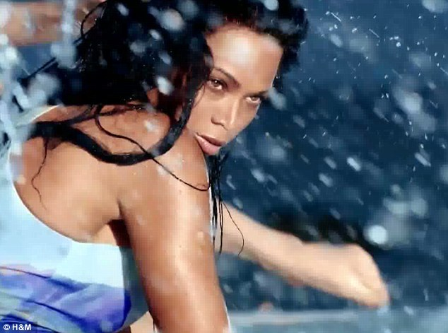 Vixen: With her jet black hair Beyoncé is instantly transformed into a smouldering beach goddess