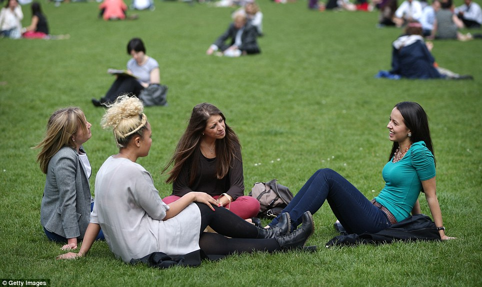 Hot: Temperatures as high as 23C are expected today on what is likely to be the warmest day of the year