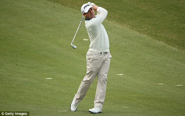 Hitting the front: Matthew Baldwin is in a share of the lead after his first round