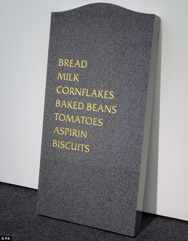 Morbid: Much of Mr Shrigley's work deals with the topic of death, including Gravestone (2008)
