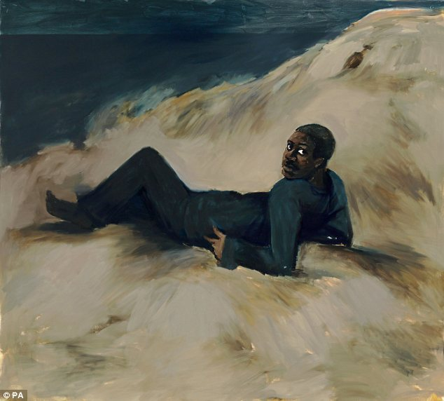 Painter: Ms Yiadom-Boakye, whose work Midnight, Cadiz (2013) is pictured, is the first black woman ever to be shortlisted for the Turner Prize