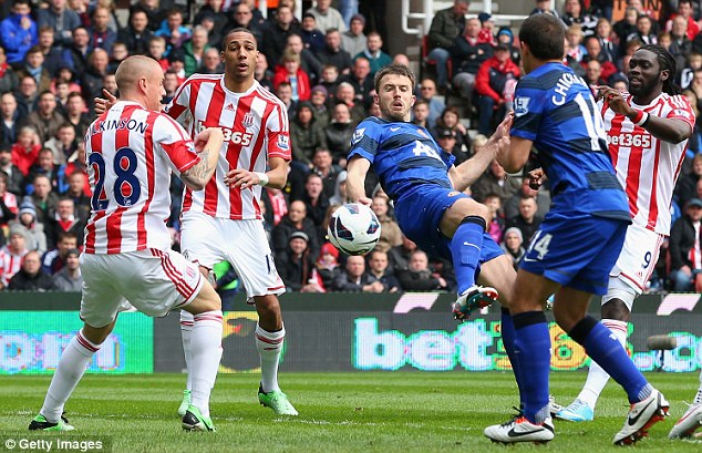 Slide: Before their win at QPR, Stoke lost six of their previous seven matches to fall into relegation danger