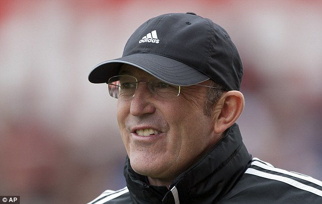 Rubbish: Tony Pulis played down fears that he could quit as Stoke boss before the end of the season