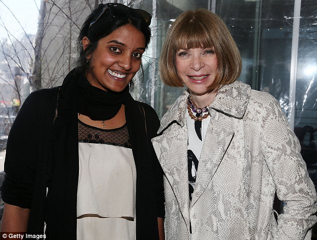 Congratulations: Anna wished filmmaker Meera Menon well after it was announced that she had won the Nora Ephron Prize