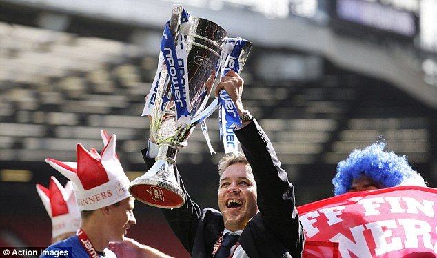 Absent: Ferguson Snr didn't attend Peterborough's League One play-off final win at Old Trafford in 2011
