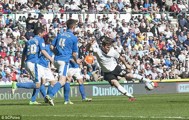 Danger: Peterborough's defeat by Derby leaves them as one of three teams on 51 points