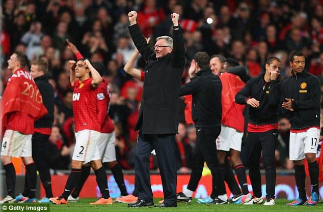 On top again: Sir Alex Ferguson guided Manchester United to their 13th Premier League crown