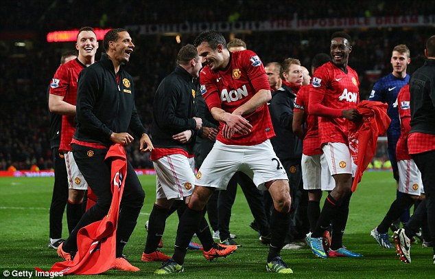 Champions: Manchester United beat Aston Villa 3-0 on Monday night to secure their 20th top-flight title