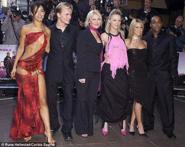 Fame: Rachel (second from right) arriving at a premiere in 1993 with her S Club 7 bandmates