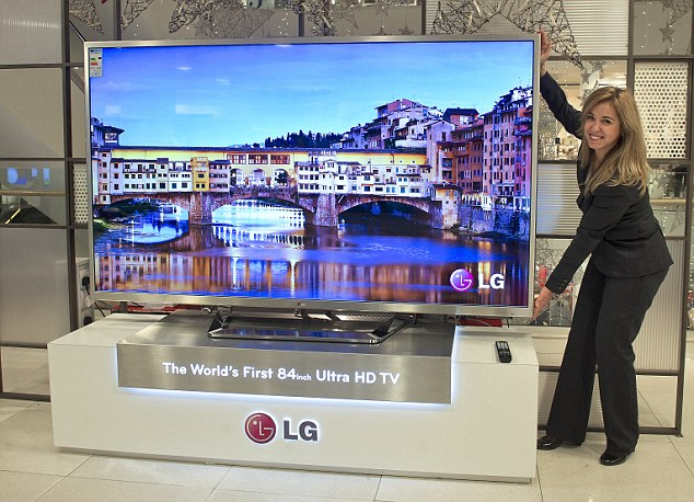 Ultra HD TVs like this massive 84 inch LG model boast astonishing picture clarity with images that are said to be four times sharper than current high definition TVs