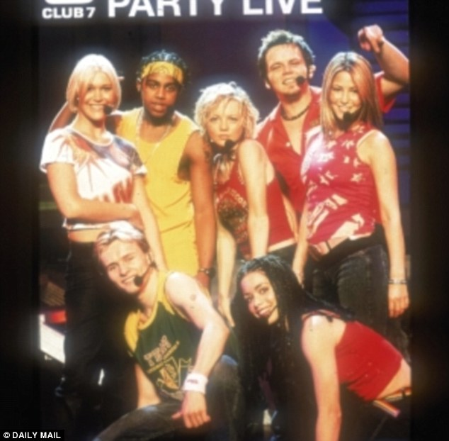 Pop princess: Rachel (far right) with her S Club 7 bandmates at the height of their musical career
