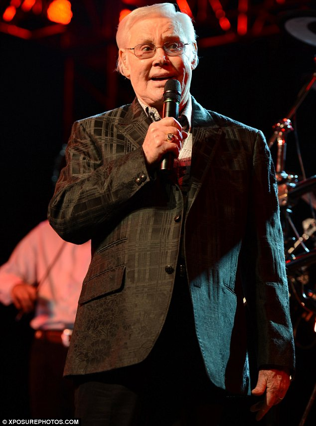Sad news: Country star George Jones died on Friday at the age of 81