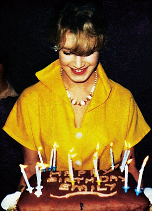 Emily with her 16th birthday cake on the set of Wish You Were Here