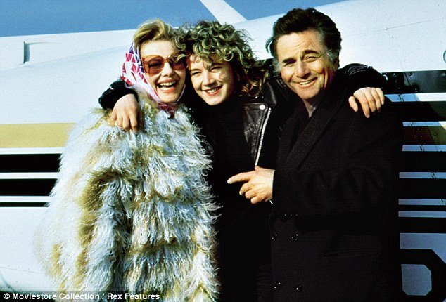 'I had a promising start, beating 5,000 girls, including Jodie Foster, to the lead role in Cookie, a film written by Nora Ephron,' said Emily (pictured with her co-stars Dianne West and Peter Falk)