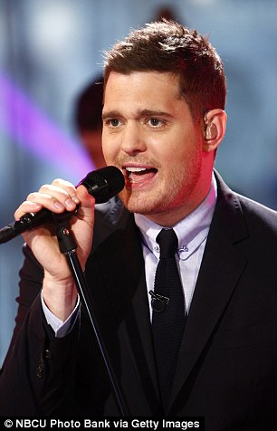 Media blitz: Buble performed on the Today Show Wednesday and signed copies of his new album Tuesday at Barnes & Noble in New York City