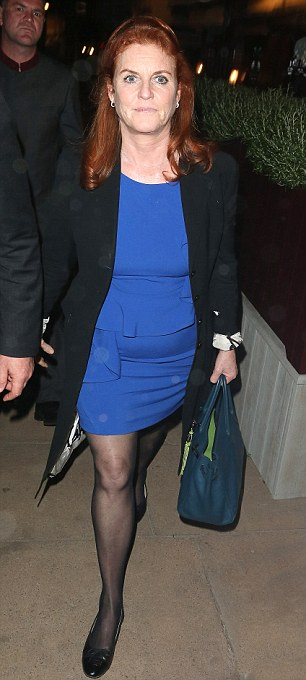 In royal company: Princess Beatrice and her mother Sarah Ferguson were also at the exclusive club