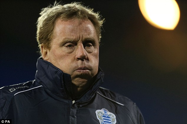 Don't give up: Harry Redknapp wants his QPR team to keep pushing despite their inevitable relegation
