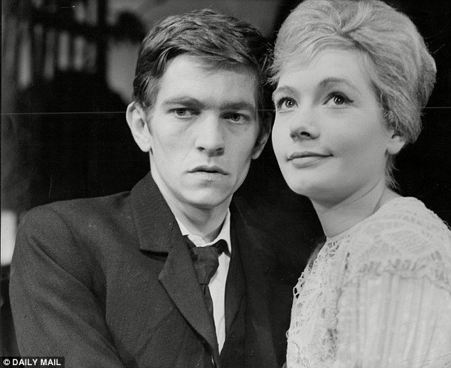 Early career: Tom Courtenay acting alongside Ann Bell in the Old Vic production of Chekhov's The Seagull