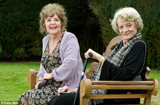 Quartet: Pauline Collins and Dame Maggie Smith star alongside Sir Tom Courtenay in the new film