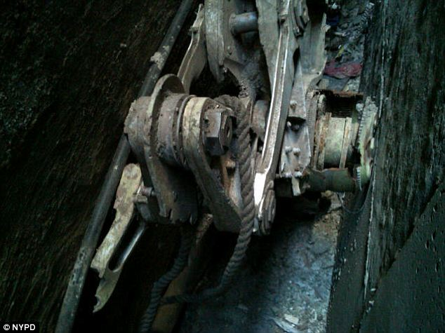 Found: part of a landing gear from one of the 9/11 planes was discovered wedged between buildings with a mysterious rope around it