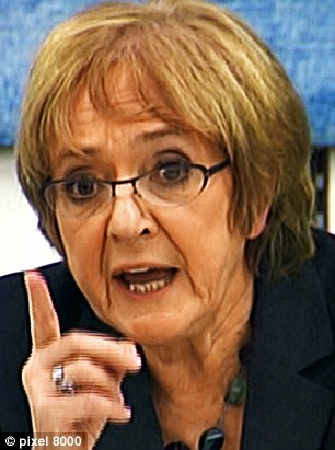 Probe: Public Accounts Committee chairman Margaret Hodge confirmed plans to investigate government contractors in the autumn