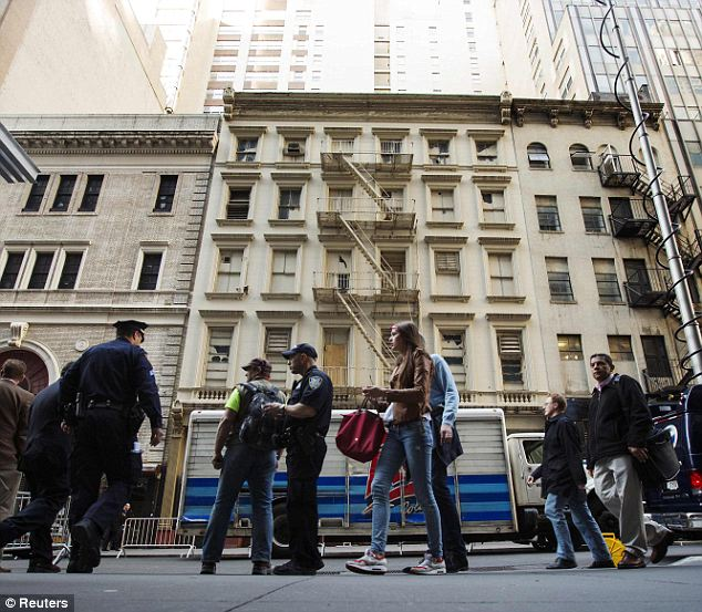 Some answers: Officials held a press conference in front of the buildings (pictured) where the gear was found