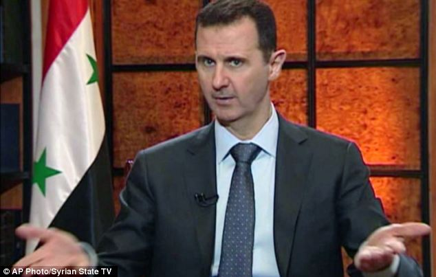 President Bashar Assad accused the West on Wednesday of backing al-Qaeda in his country's civil war