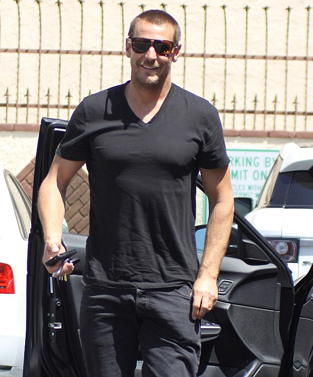 Ready to rumba: Actor Ingo Rademacher arrived looking happy and ready to rumba with partner Kym Johnson