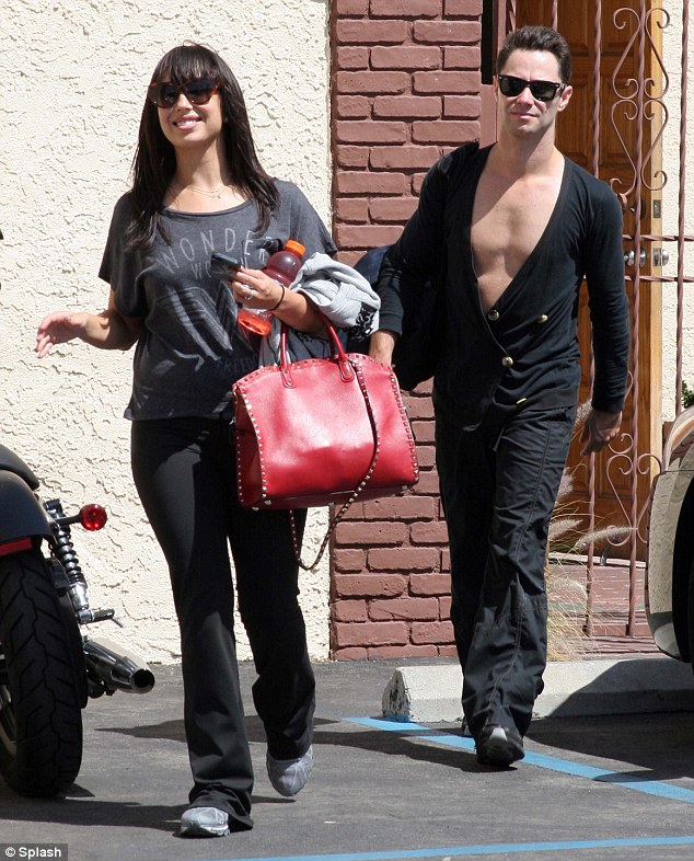 Dancing duo: Cheryl Burke stepped out with a fellow dancer